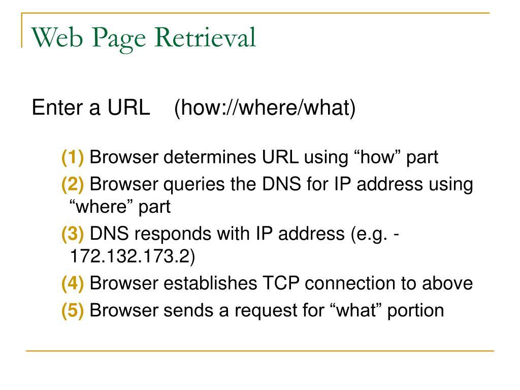 Web Page Retrieval