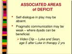 associated areas of deficit