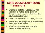 core vocabulary book benefits