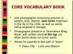 core vocabulary book