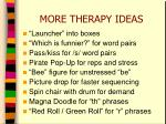 more therapy ideas