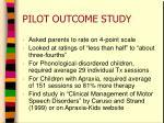 pilot outcome study