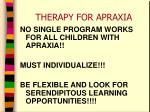 therapy for apraxia