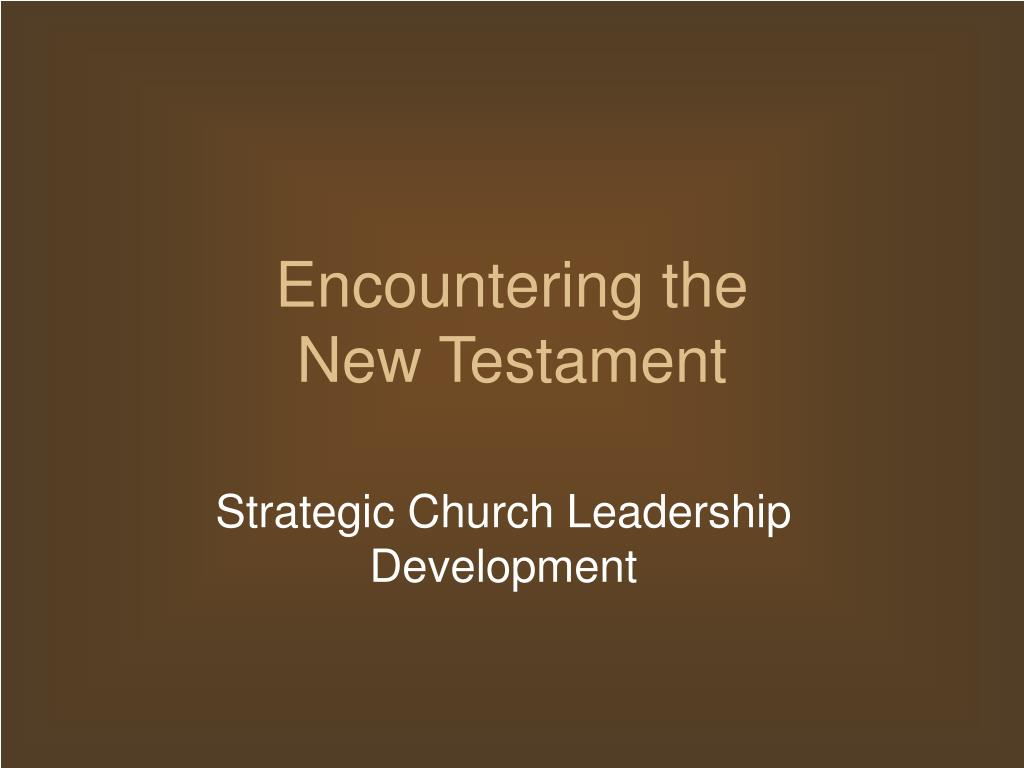 encountering the new testament l.