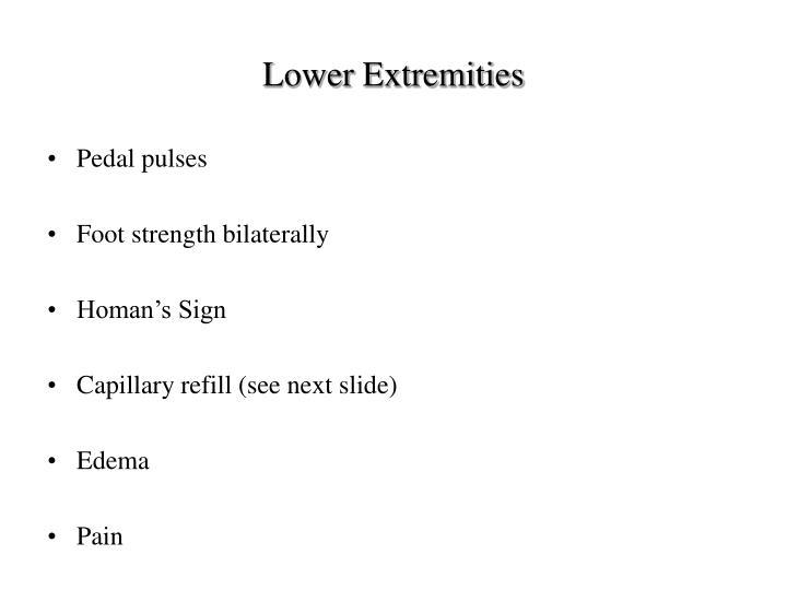 Lower Extremities