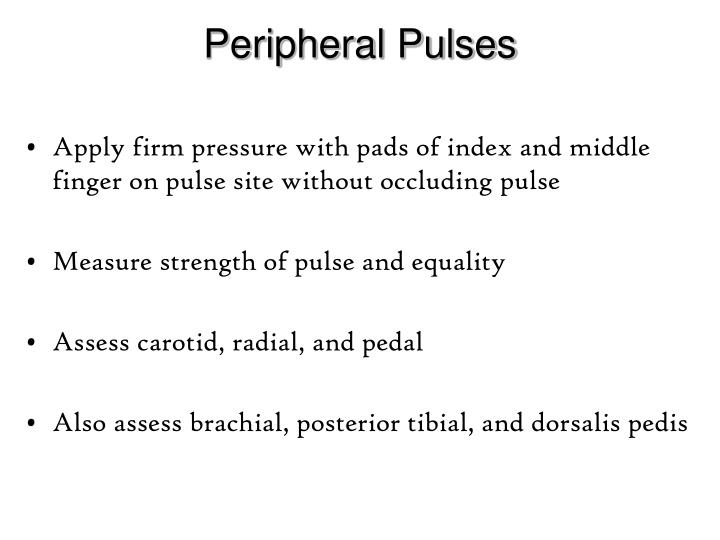 Peripheral Pulses