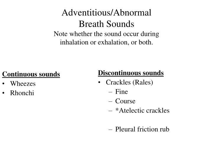 Continuous sounds