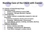 nursing care of the client with cancer21