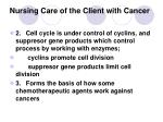 nursing care of the client with cancer5