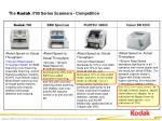 the kodak i700 series scanners competition