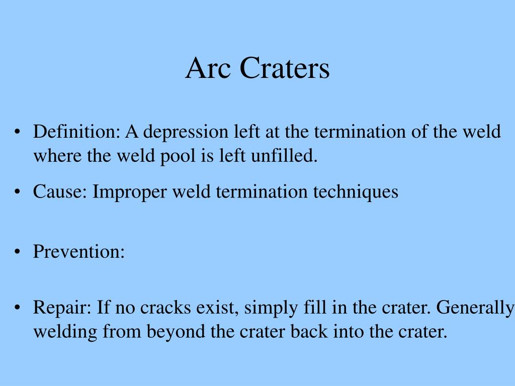 Arc Craters