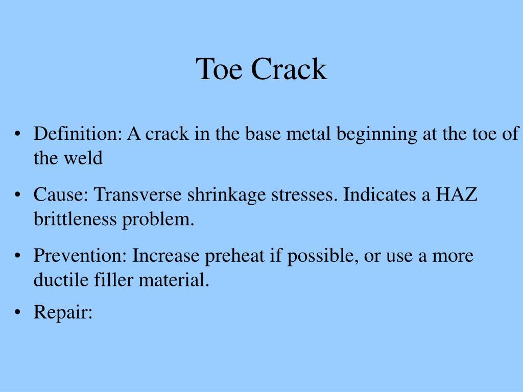 Toe Crack