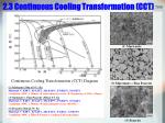 2 3 continuous cooling transformation cct