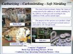 carburizing carbonitriding soft nitriding
