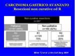 carcinoma gastrico avanzato resezioni non curative ed r