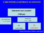 carcinoma gastrico avanzato