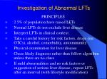 investigation of abnormal lfts