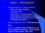 nash treatment