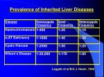 prevalence of inherited liver diseases