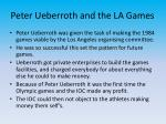 peter ueberroth and the la games