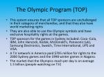 the olympic program top