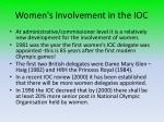 women s involvement in the ioc