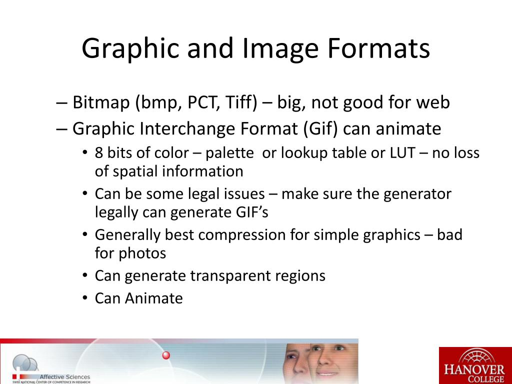 Graphic and Image Formats