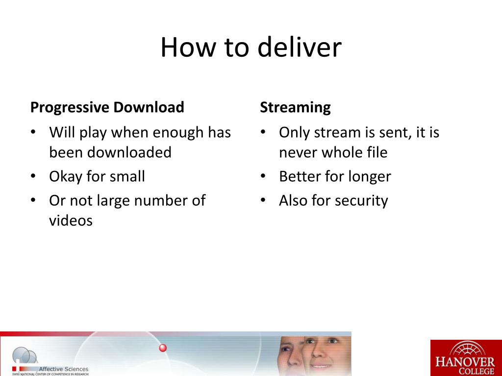 How to deliver