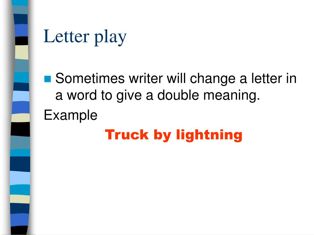 Letter play