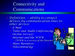 connectivity and communications