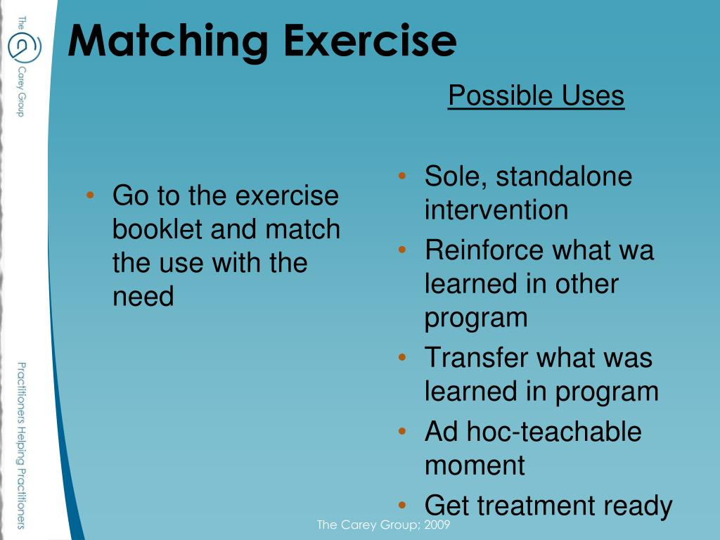 Matching Exercise