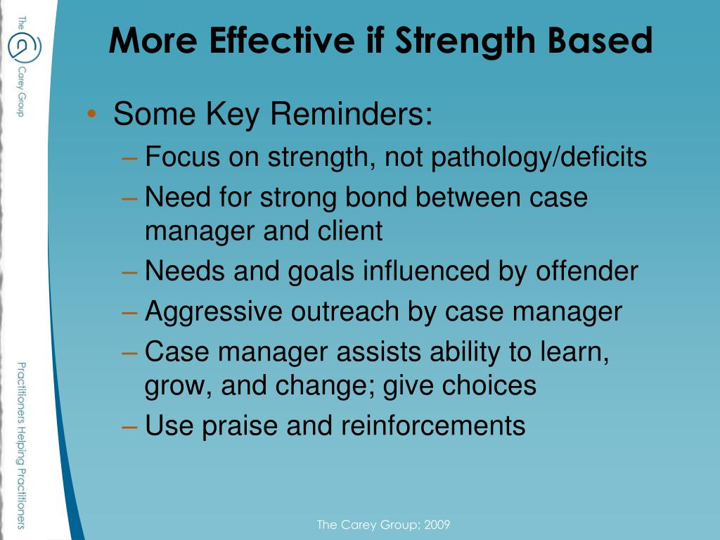 More Effective if Strength Based