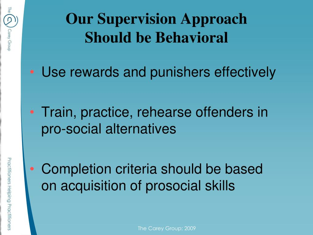 Our Supervision Approach