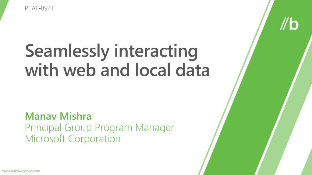seamlessly interacting with web and l ocal data l.