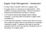 supply chain management introduction1