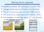 driving factor liquidity