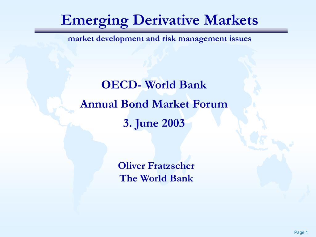 emerging derivative markets market development and risk management issues l.