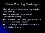 global sourcing challenges