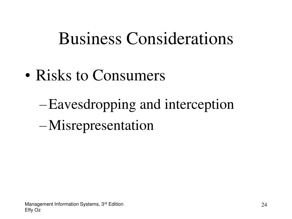 Business Considerations