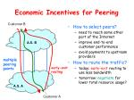 economic incentives for peering