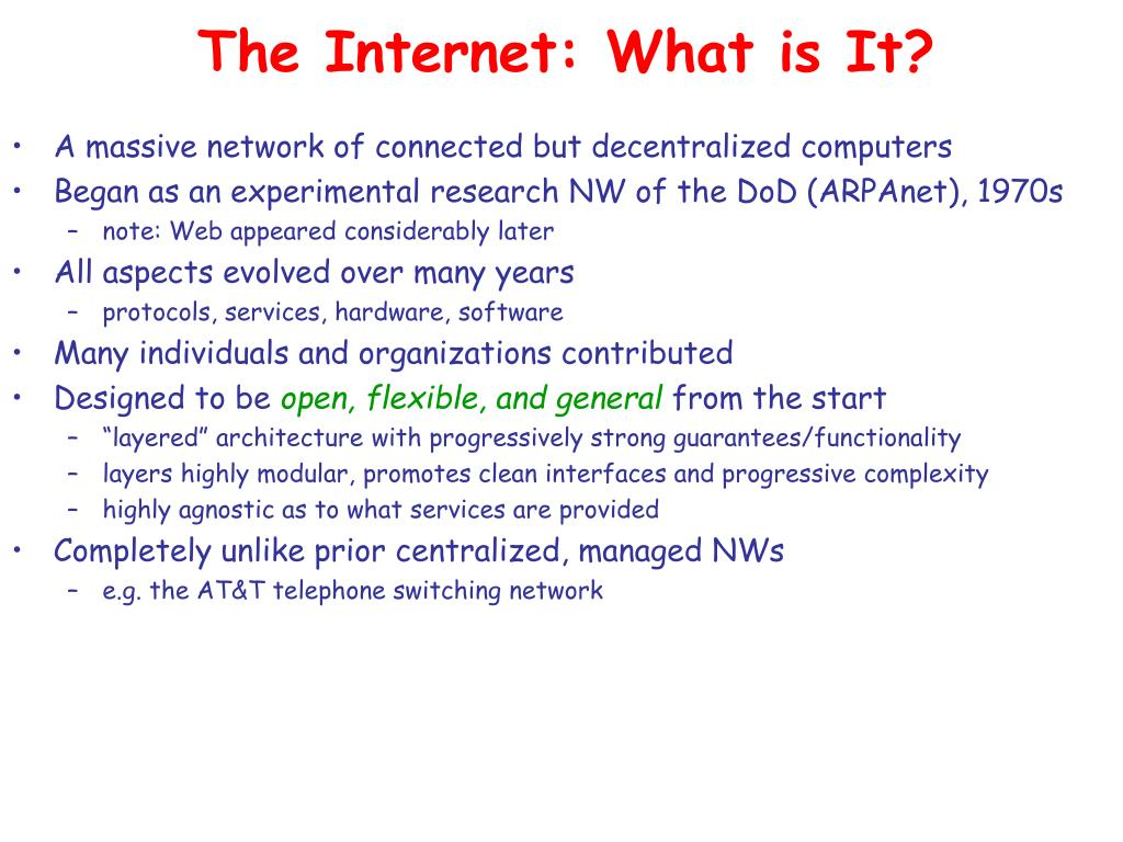 The Internet: What is It?