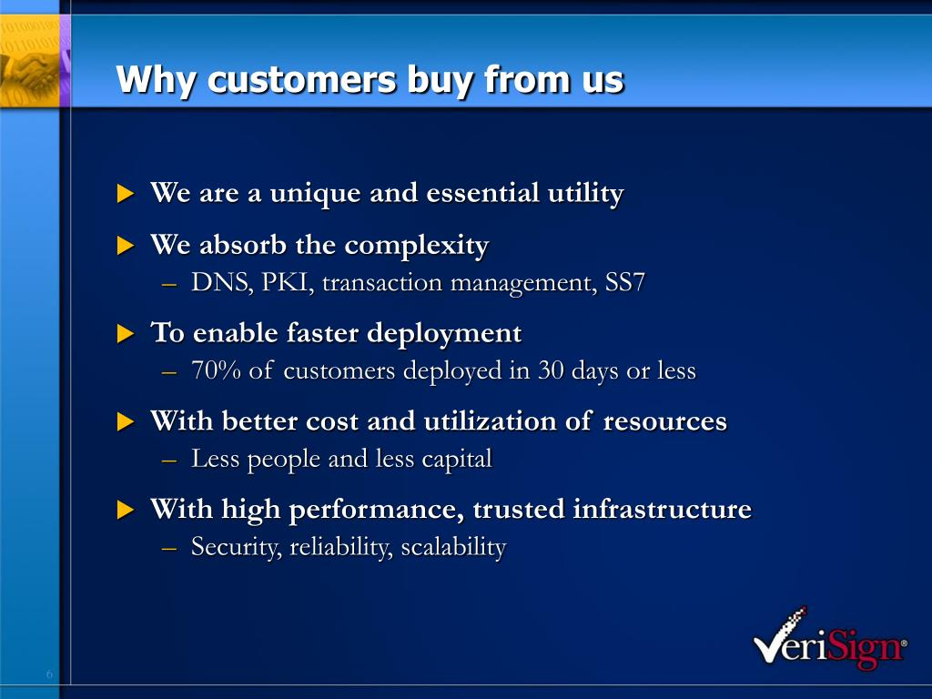 Why customers buy from us