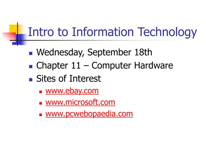 intro to information technology n.