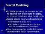 fractal modeling54