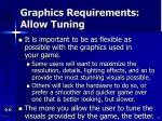 graphics requirements allow tuning
