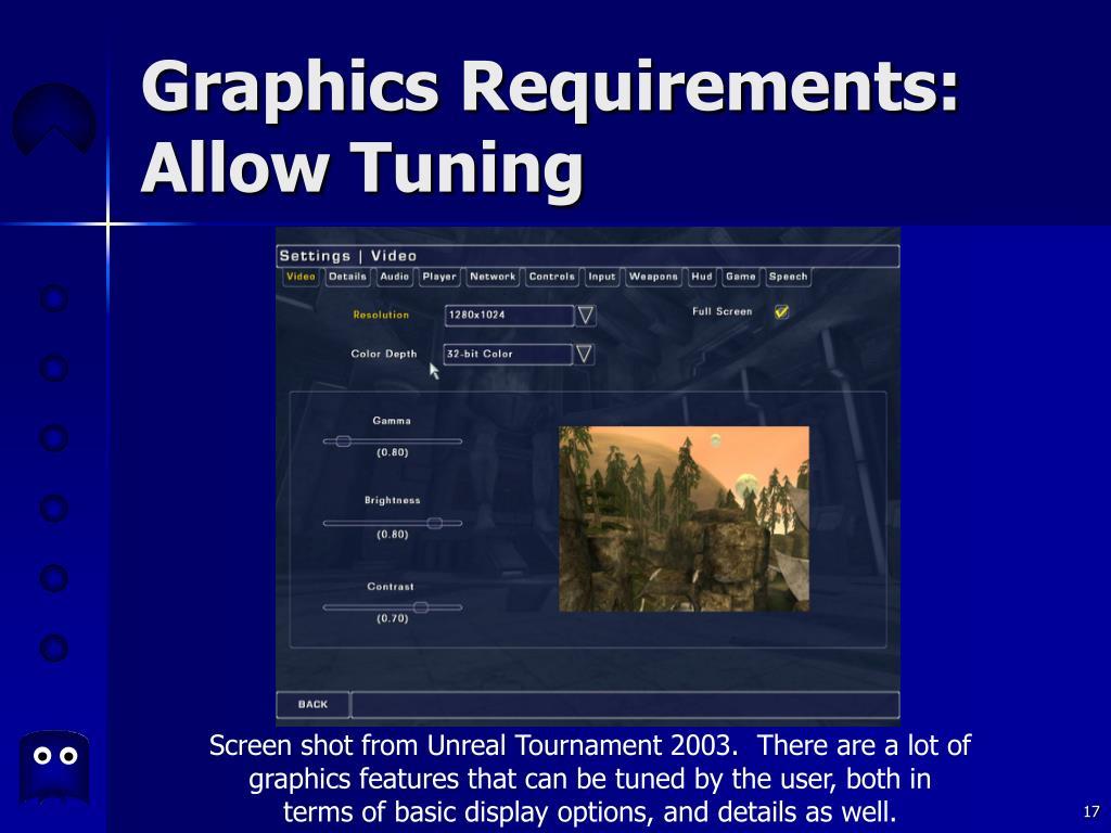 Graphics Requirements:
