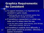 graphics requirements be consistent