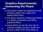 graphics requirements immersing the player