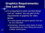 graphics requirements one last note