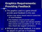 graphics requirements providing feedback